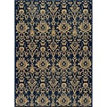 Ikat Chic Navy Wool Rug (3'11 x 5'11)