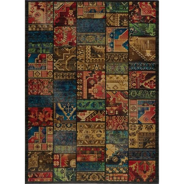 Vintage Warren Patchwork Multi New Zealand Wool Rug (7'10 x 9'10)
