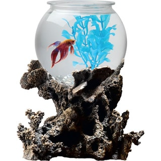 KollerCraft Betta Treasures 1-Gallon Coral Aquarium