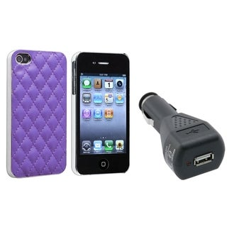 BasAcc Case/ Black Car Charger Adapter for Apple iPhone 4/ 4S
