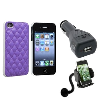 BasAcc Case/ Windshield Mount/ Car Charger for Apple iPhone 4/ 4S