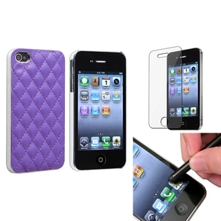 BasAcc Case/ Black Stylus/ Protector for Apple iPhone 4/ 4S