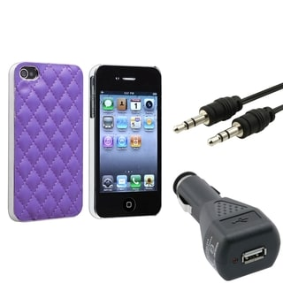 BasAcc Case/ Audio Cable/ Car Charger for Apple iPhone 4/ 4S