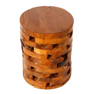 Stonehenge Stump End Table in Solid Teak Wood