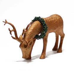 Gold Polyresin 19-inch High Reindeer