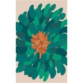 Hand-tufted Seattle Green Wool Bold Floral Rug (2' x 3')