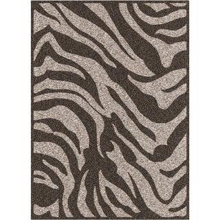 Seth Grey Zebra Stripe Rug (2'2 x 3')