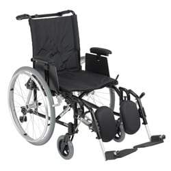 Cougar Ultra Lightweight Rehab Wheelchair with Various Arms Styles and Front Rigging Options