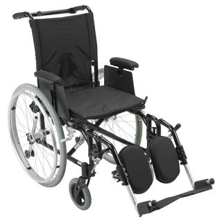 AK516ADA-AELR Cougar Ultra Lightweight Rehab Wheelchair with Various Arms Styles and Front Rigging Options