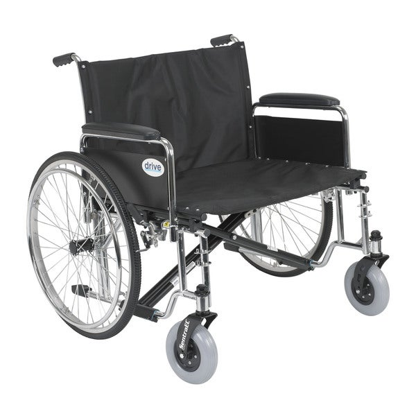 Sentra EC Heavy Duty Extra Wide Wheelchair with Various Arm Styles Arms