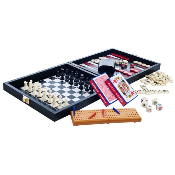 Trademark Games Leather/ Vinyl Travel Multi Game Set