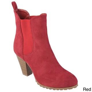 Tressa Collection Women's 'Balboa' Sueded High Heel Booties