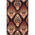 Hand-hooked Spearman Brown Rug (2'6 x 4')