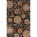 Hand-tufted Valentine Black Wool Rug (2' x 3')