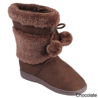 Journee Collection Kid's 'Furry' Faux Fur Pom Pom Boots