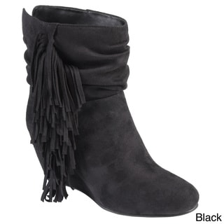 Hailey Jeans Co. Women's 'Galaxy' Slouchy Fringed Wedge Boots