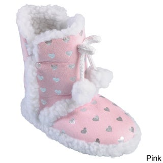 Journee Collection Girl's 'K-Mimiheart' Pom Pom Slipper Boots