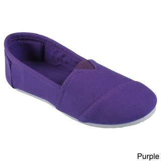 Journee Collection Kid's 'Timmy' Round Toe Linen Flats