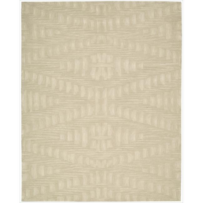 Nourison Hand-tufted Moda Cream Rug (7'6 x 9'6)