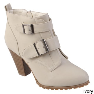 Hailey Jeans Co. Women's 'Oakland' Round Toe Buckle Detail Bootie