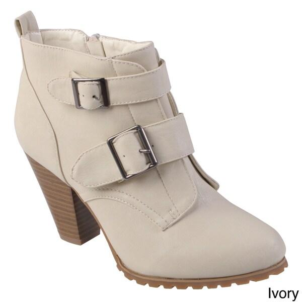 Hailey Jeans Co. Women's 'Oakland' Round Toe Buckle Detail Bootie