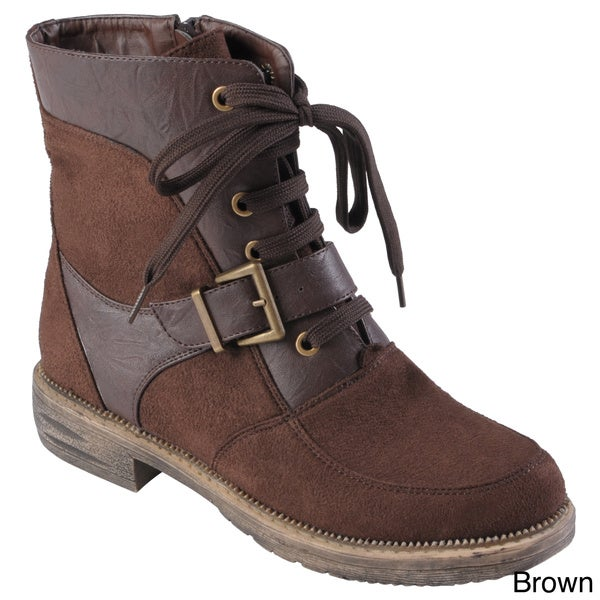 Hailey Jeans Co. Women's 'PCH' Buckle Detail Round Toe Boots
