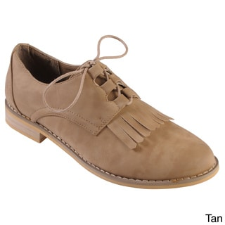 Tressa Collection Women's 'Sierra' Fringe Detail Lace-up Oxfords