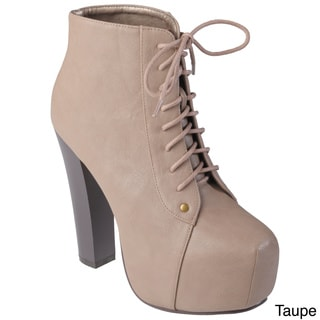 Hailey Jeans Co. Women's 'Sophie' Lace-up High Heel Bootie