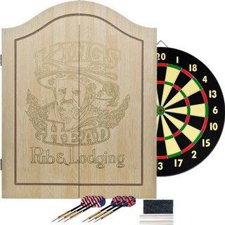 King's Head Light Wood Value Dartboard Set