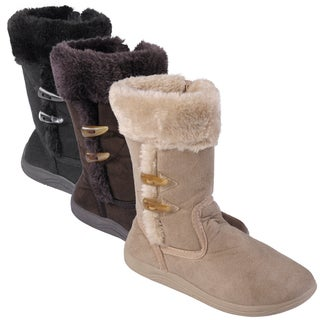 Journee Collection Kid's 'Togster' Faux Fur Trim Toggled Boots