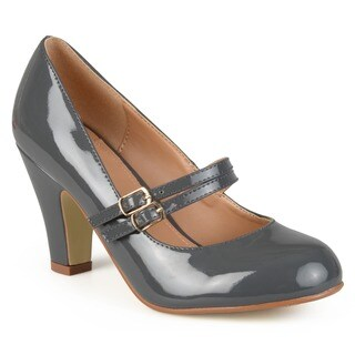 Journee Collection Women's 'Wendy-09' Mary Jane Patent Leather Pumps