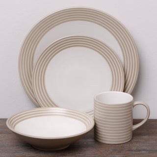 Denby Intro Stripes 16-piece Dinnerware Set