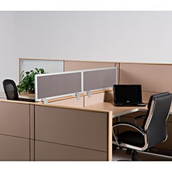 Universal Plexi-glass Cubicle Wall Extender (12-inch)