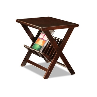Favorite Finds Reader's Ribbed Shelf Chairside Table