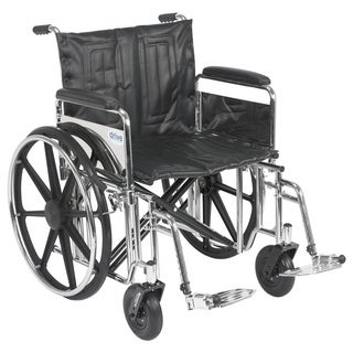 Drive Medical 22-inch Wide Sentra Extra Heavy-duty Wheelchair with Various Arm Styles
