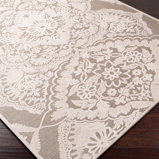 Meticulously Woven Castor Beige Lace Contemporary Rug  (5'1 x 7'6)