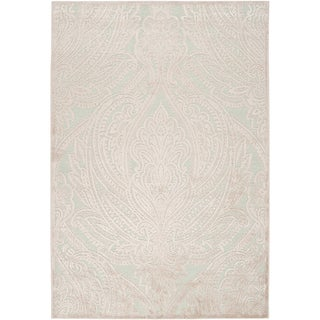 Woven Caphir Ice BlueViscose/ Chenille Rug (7'6 x 10'6)