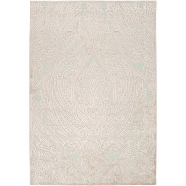 Woven Caphir Ice BlueViscose/ Chenille Rug (7'6 x 10'6)