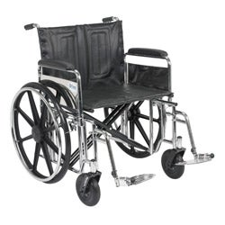 Sentra Extra Heavy Duty Wheelchair with Various Arm Styles and Front Rigging Options
