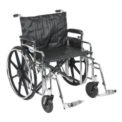 Drive Medical Sentra Extra Heavy-duty Wheelchair with Various Arm Styles