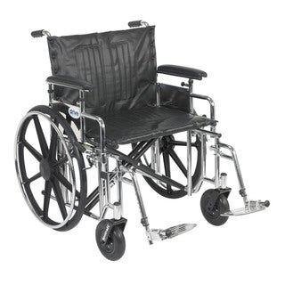 Drive Medical std22adfa-sf Sentra Extra Heavy-duty Wheelchair with Various Arm Styles