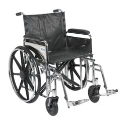 Drive Medical std20dfa-sf Sentra Extra Heavy-duty Wheelchair with Various Arm Styles