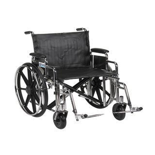 Drive Medical std20dda-sf 20-inch Wide Sentra Extra Heavy-duty Wheelchair with Various Arm Styles