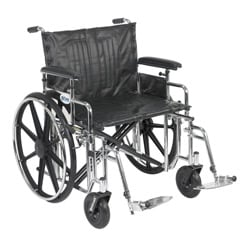 Sentra Extra Heavy Duty Wheelchair with Armrest and Front Rigging Options