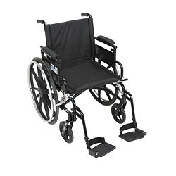 Viper Plus GT Wheelchair with Flip-up Arms and Footrests