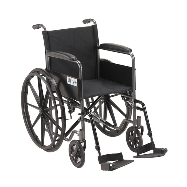 Silver Sport 1 Wheelchair with Full Arms and Swing away Removable Footrest