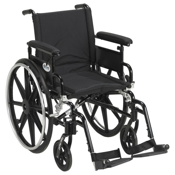 Viper Plus GT Wheelchair with 18-inch Flip-back Adjustable Arms