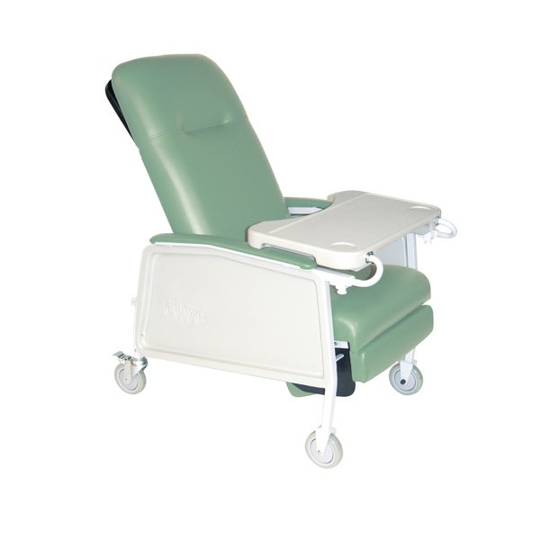 Heavy Duty Bariatric Green Geri Chair 3-position Recliner
