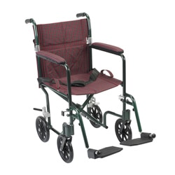 Deluxe FlyWeight Lightweight Transport Wheelchair