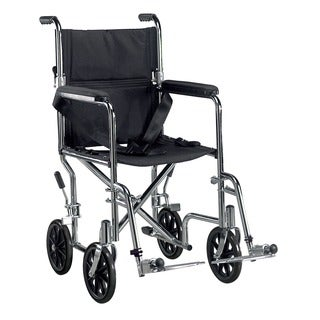 Go Cart Lightweight Transport Wheelchair with Swing-away Footrest